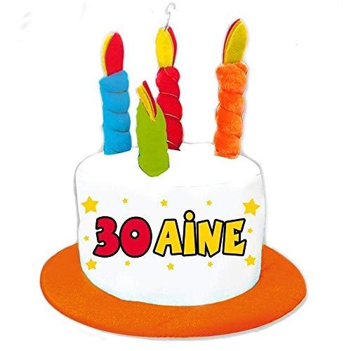 Chapeau 30 ans gâteau
