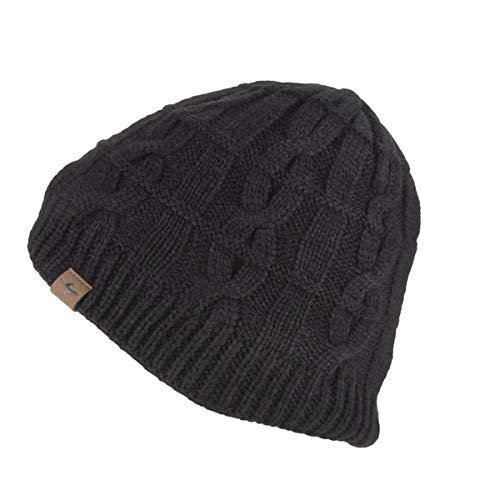 SealSkinz Waterproof Cold Weather Cable Knit Bonnet Homme, Noir, XXL