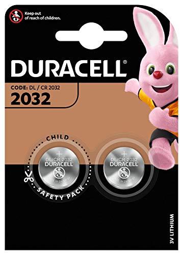 Duracell Specialty 2032 Lithium-Knopfzelle 3V, 2er-Packung (CR2032 /DL2032 entwickelt für die Verwendung in Schlüsselanhängern, Waagen, Wearables und medizinischen Geräten.