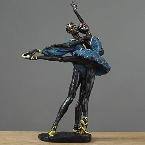 Arte decorativo para el hogar Arte del bailarín de ballet estatua decoración del hogar de la sala gabinete del vino decoración hace el regalo a la decoración del hogar decoración estatua acento decora