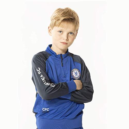 Chelsea F.C. Tuta Completa Pantaloni e Giacca Replica Originale con Licenza Ufficiale - Taglie da Bambino (13/14 Anni)