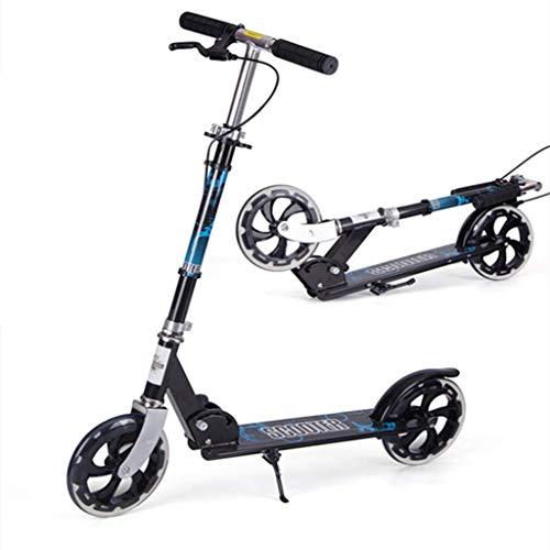 Modelo a seguir yui Scooter, Manijas Ajustables Plegables De 2 Ruedas Diseño De Marco De Aluminio Fuerte Dirección Sin Freno De Mano For Niños De Hasta 5 Años Y Adultos Pequeños Al Aire Libre Modelo a