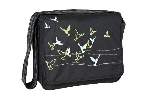 Lässig Wickeltasche Casual Messenger Bag, Flock of Birds black
