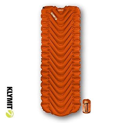 Klymit Static V Sleeping Pad, Orange, one (06ST01ORG)
