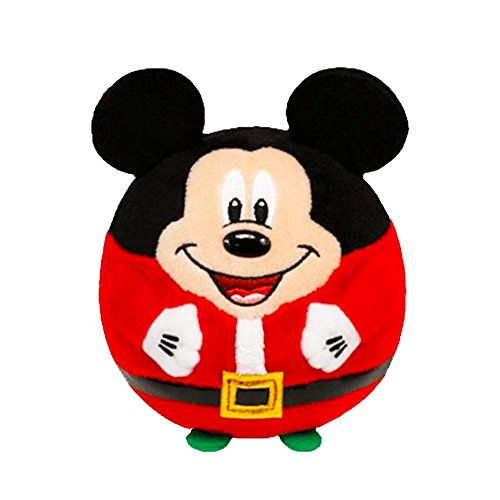 Ty Beanie Ballz Mickey - Mouse Christmas
