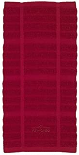 All-Clad Textiles 100-Percent Cotton Solid Kitchen Towel, Chili by All Clad Textiles
