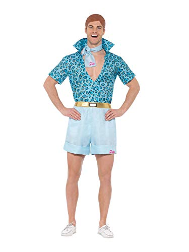 Smiffys 42979L Officially Licensed Costume Dress up Barbie Safari Ken Kostüm, blau, L - Size 42