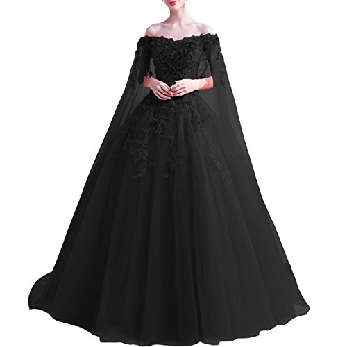 Off the Shoulder Cape Wedding Dress
