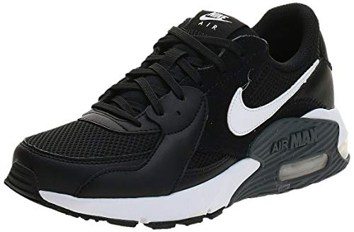 NIKE Air MAX Excee, Running Shoe Mujer, Negro Blanco Gris Oscuro, 37.5 EU