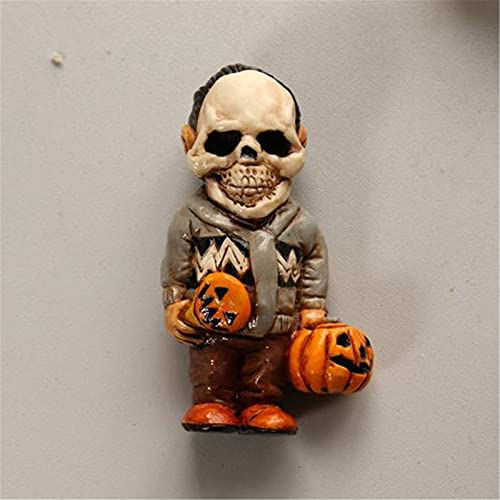 Figuras de resina de jardín de gnomo de película de terror, decoración de Halloween de payaso zombie aterrador, escultura espeluznante de gnomo de jardín asesino para decoración del hogar de fiesta-D