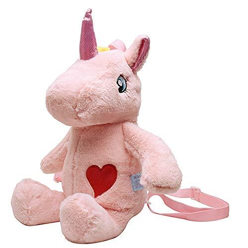 Rucksack Mädchen,SDFY Einhorn Kuscheltier Mini-Rucksack Kinderrucksäcke for Mädchen Kinder,Pink