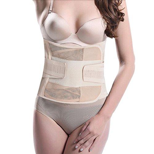 Andux Zone Extralanger Schlankheitsgürtel Bauchweggürtel Schwitzgürtel/Bauchband Gurt für Männer Frauen SS-SFD01 (Haut)