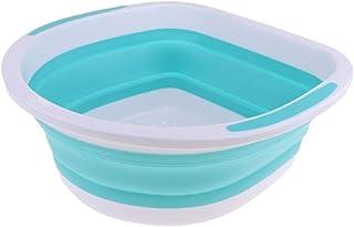 Perfeclan キッチン たらい 折りたたみ式 洗面台 全3色 - 青(排水)