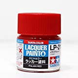 Tamiya 82121 LP21 Lacquer Paints Italian Red Color Bottle - 10 ml / 0.34 Fl.Oz