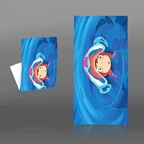 KaiWenLi Ponyo en el acantilado de la Serie/una Variedad de Patrones se Pueden Seleccionar/Animado Suave Toalla de baño/Playa de la Historieta/Toalla del hogar/Impresión Digital/Microfibra