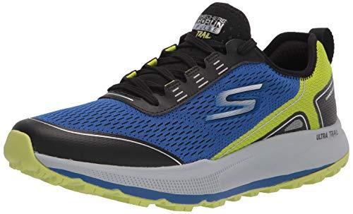 Skechers Men's GOrun Pulse Trail-Lace Up Running Hiking Walking Shoe, Blue, 9.5