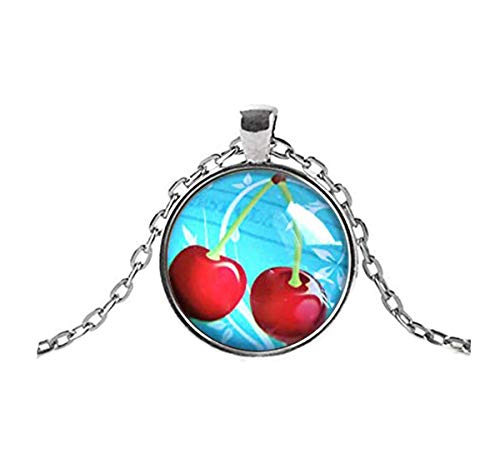 Sunshine Collar de cerezas, regalo de camarero, regalo de chef, regalo de panadería, joyería de cereza, regalo de panadería, cerezo, regalo único