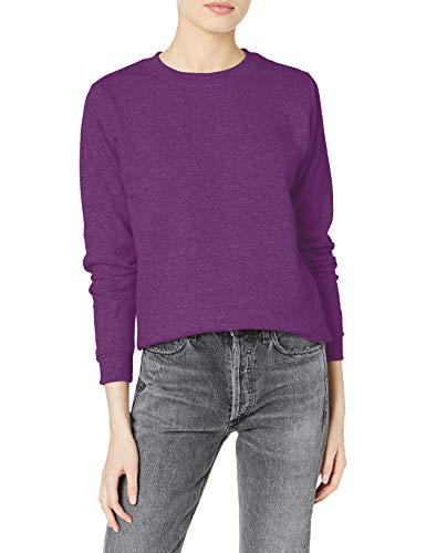 Gildan Women's Fleece Crewneck Sweatshirt, Style G18000FL, Aubergine, Medium
