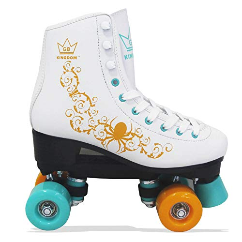 Kingdom GB Vector v2 4-Rollen Skaten Rollschuhe (Weiß/Grün/Gelb, 41 EU)