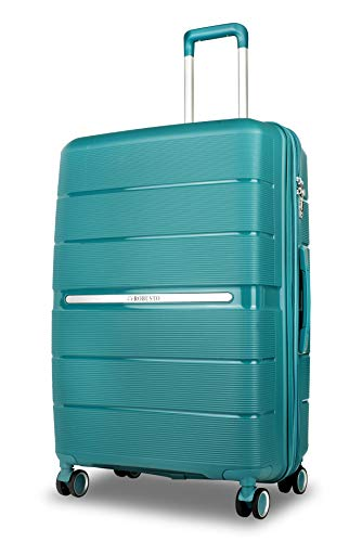 Vienna Durable Hard Shell Luggage (Apple Green) 28 Inch, 73 cm, 4 Wheels, Large Expandable Spinner Suitcase with a 5 Year Warranty