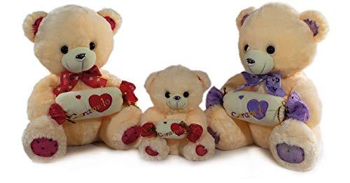 LOYFER Oso de Peluche para Bebe de 45cm- Osito Peluche tierno con Caramelo de Felpa Gruesa Muy Suave (Rosa)