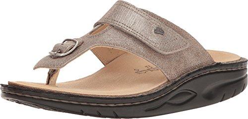 Finn Comfort Women's Calmasino Finnamic Thong Sandal,Fango Glitter Nappa Leather