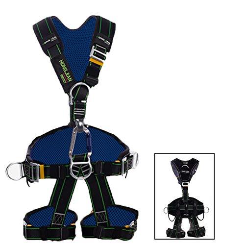 GYC Imbracatura di Sicurezza anticaduta, Spazzola per Bretelle Staccabile per elettricisti Arrampicata su Roccia a Parete, Adatta a Persone di Peso In