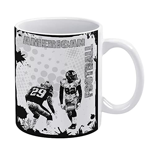 Grungy American Football Image International Team Copa Mundial Kick Play Speed Victory - Taza de té con leche y café en casa