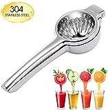 Exprimidor manual de frutas, exprimidor de cítricos, exprimidor de acero inoxidable 304, perfecto para zumos de naranjas, limones grandes
