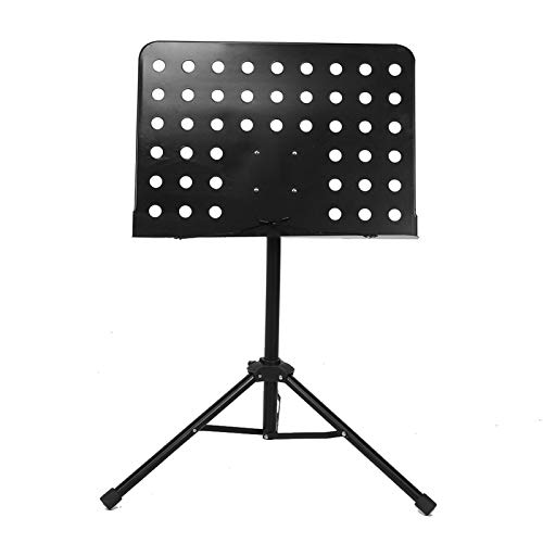 Soporte de música plegable, soporte de partitura de música + base de trípode Soporte de trípode portátil para poner partituras de música/libros