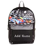 Personalized Kids 14 Inch Backpack - Racing