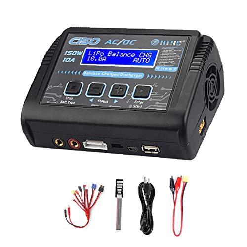 sevenjuly Cargador Smart Lipo Cargador de batería 10A 150W Balance de la batería del Rompecabezas para el Juguete niño Suministros Enchufe de la UE