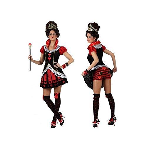Atosa-22542 Disfraz Reina Corazones, Color Rojo, XL (22542)