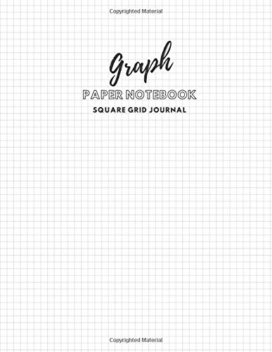 Graph Paper Notebook 8.5 x 11, 110 pages: Square Grid Journal For Math, Drawing, Graphing, and Note Taking with gel, ink, pens, chalk, fluorescent and metallic gel pens/markers  - Business Note Cover