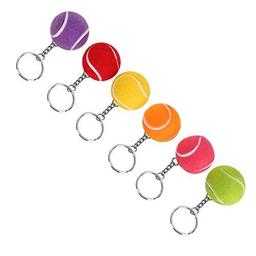 Tennisball Split Ring Tennisball Schlüsselanhänger Simulation Sport für Taschen Dekor Anhänger Geschenk Sportliebhaber Geldbörse