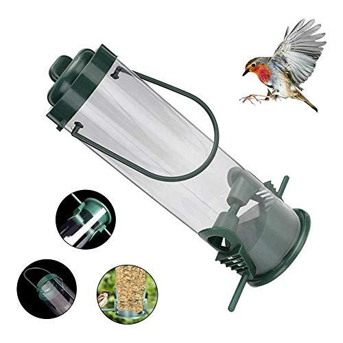 LIANGZHI Comedero para Pájaros Al Aire Libre Comedero De Aves Silvestres Comedero Exterior de plástico para Mascotas Decoración de Jardines, Verde Bosque