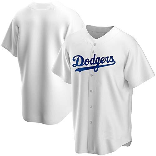 YQSB Herren Los Angeles Dodgers Spieler Trikot Blau Grau Weiß Home 2020 Replica,White,XL/48