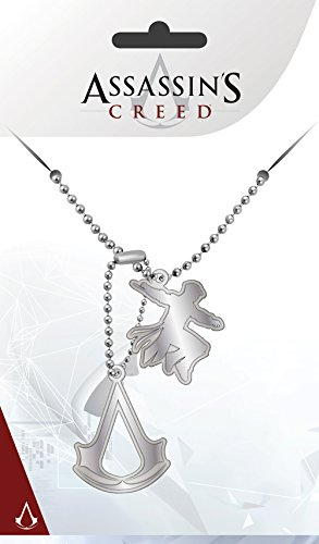 Assassins Creed Dog-Tag Kette mit 2 Anhängern Metall Silber