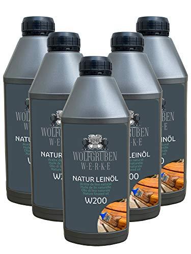 Huile de lin naturelle pour bois 5x1L W200-5L