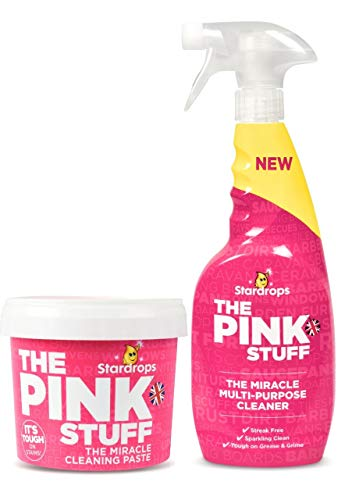 Stardrops - The Pink Stuff - The Miracle Cleaning Paste and Multi-Purpose Spray 2-pack Bundle ( 1 Cleaning Paste, 1 Multi-Purpose Spray)