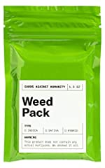 30 cards about weed, written while we were high. Honestly, not a great pack. Maybe skip this one. Wanna get Taco Bell? This is an expansion pack. Requires Cards Against Humanity.
