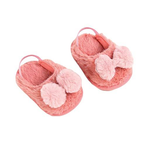Babyschuhe, Mit Warmem Fleece Gefüttert, 0-18 Monate BIS 4-5 Jahre, Rutschfeste, Weiche Sohle, Kleinkind-Kinderschuhe, Kleinkinder, Jungen, Mädchen (Dark Pink, 12)