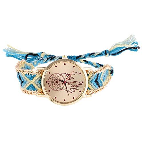 dailymall Handgefertigte Geflochtene Elefanten Freundschaft Armbanduhr Genf Uhr Quarzt