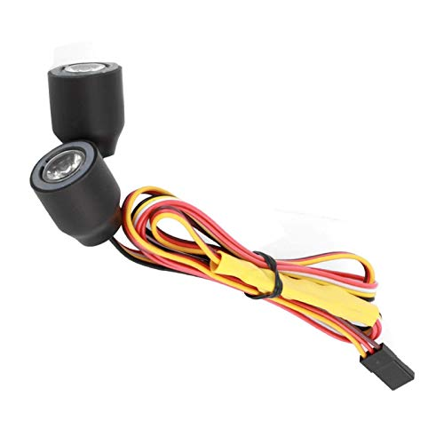YNSHOU Accesorios de Juguete Silicona Resistente a la corrosión 1/10 RC Head Light PVC para 1/10 RC Car para D90