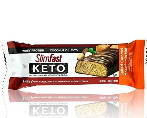 Slim Fast Keto Meal Bar, Salted Caramel Macadamia Nut 42g