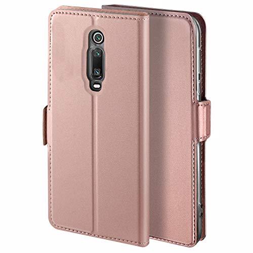 Handyhülle für Xiaomi Mi 9T Hülle für Mi 9T Pro Leder Premium Tasche Hülle, Schutzhüllen aus Klappetui, Ständer, Magnetverschluss, Für Xiaomi Mi 9T Pro/Mi 9T AUD Redmi K20 / K20 Pro, Rose Gold