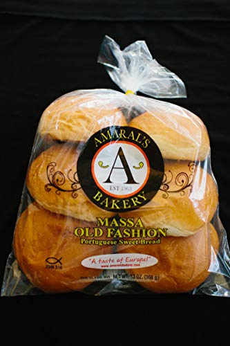 Amaral's Bakery Bundle Box of Portuguese Sweetbread Rolls - Massa Rolls, 13 oz 6 packages in one box bundle pack