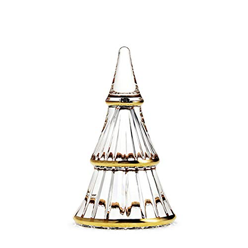 Rosendahl Fairytales Christmas Tree Clear with Gold Large Decorazione in Vetro alberello di Natale, unica