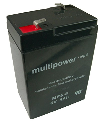 5Ah ! Blei-Gel Akku 6V Multipower MP5-6 für USV Anlage APC AP200 BACK UPS 200 250 SMART UPS 250 370 400 400 Net (AP400NET) baugl. Huanyu HYS 640 Johnlite CY-0112 Xinleina 3-FM-4.5 XK06-006-00949 SBB Sunbright Lead Acid Battery bgl. CTM CT5-6 4,5Ah Power Kingdom PS4.5-6 PS4.0-6 PS4.2-6 Kinder Elektro Polizei Motorrad Fahrzeug Kindermotorrad J518 vidaXL Suneom SH4.5-6 Avigo Accu Batterie Battery Bateria Akkubatterie