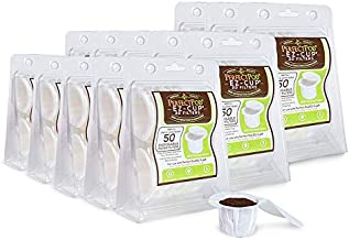 Perfect Pod EZ-Cup Paper Coffee Filters with Patented Lid for Single-Serve Coffee Brewers and K-Cups, Compatible with Keurig, 13-Pack (650 Filters)